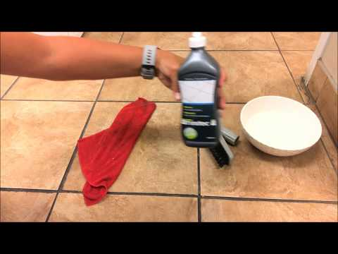 How to easily clean ceramic grout