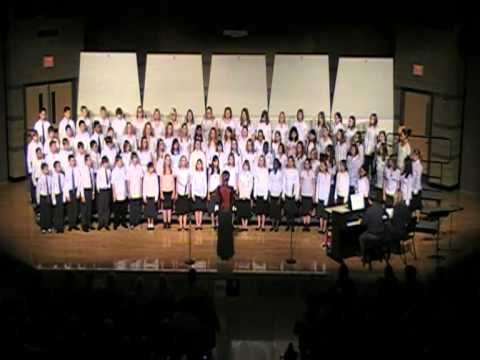 CBE 6th Grade Choir singing 'Good Tidings to You'