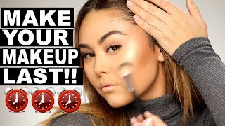 How to Make Your Makeup Last All Day (without getting dry or cakey!) | Roxette Arisa