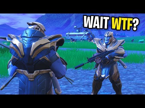I GOT THE THANOS SKIN IN FORTNITE! (I FOUND ANOTHER IN MY LOBBY!)