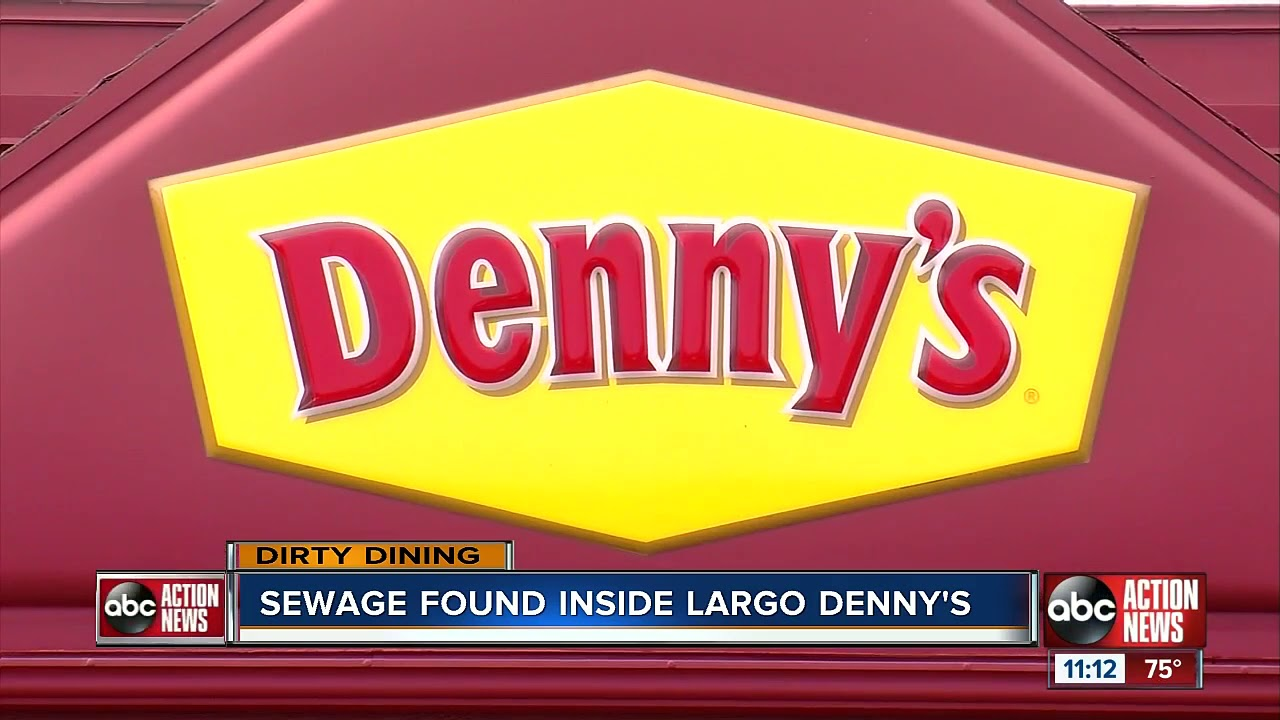 Sewage found inside Largo Denny's