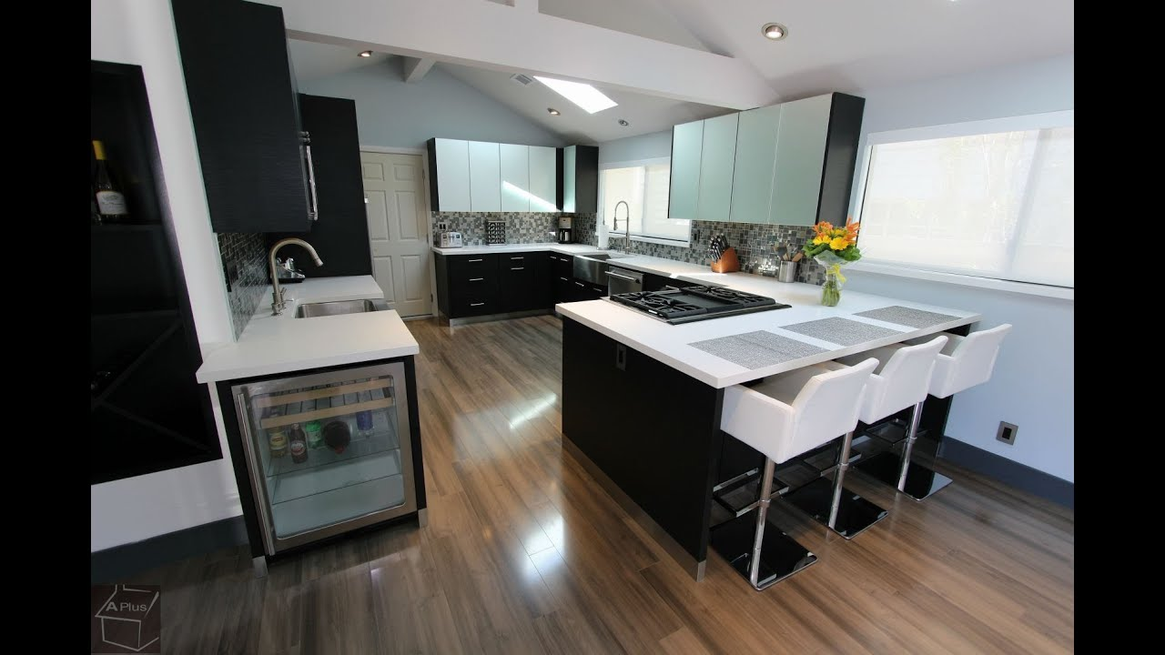 Modern Kitchen Remodel With Sophia Cabinets In San Clemente By Aplus Interior Design Remodeling Youtube