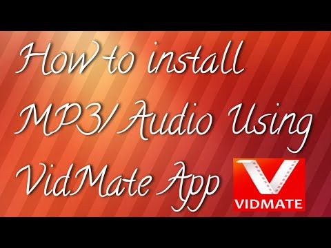 How To Install MP3/Audio Using VidMate Apk.