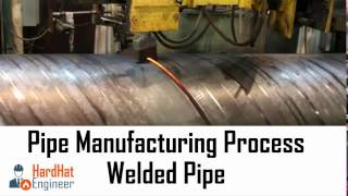 pipe manufacturing process for welded pipe saw erw