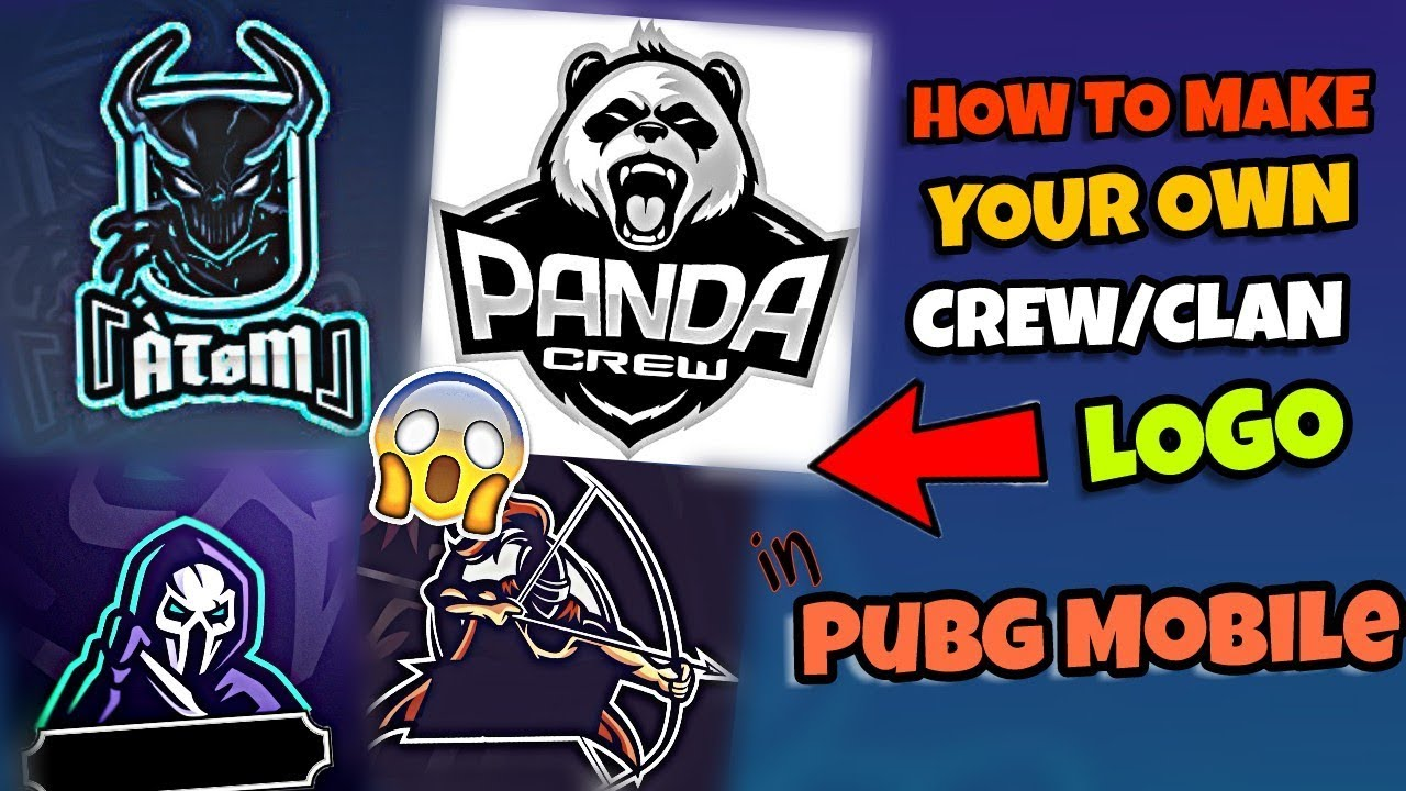 How To Make Your Own Crew Clan Logo In Pubg Mobile Youtube