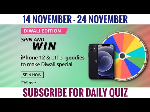 Amazon Spin Win Quiz Answers Today Win 10000 Amazon Pay Balance 14 November 2020 Youtube