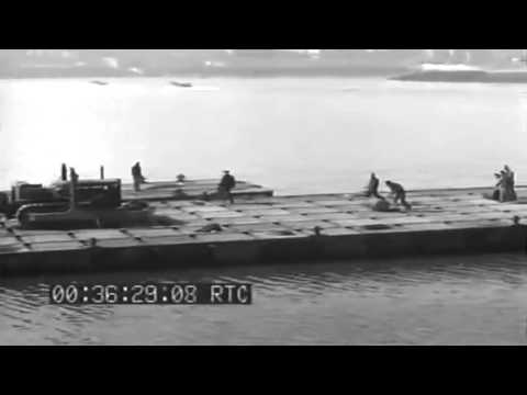 Seabees Assemble Rhino Pontoon; Amphibious Troops Maneuver, Plymouth, England, 03/24/1944 (full)