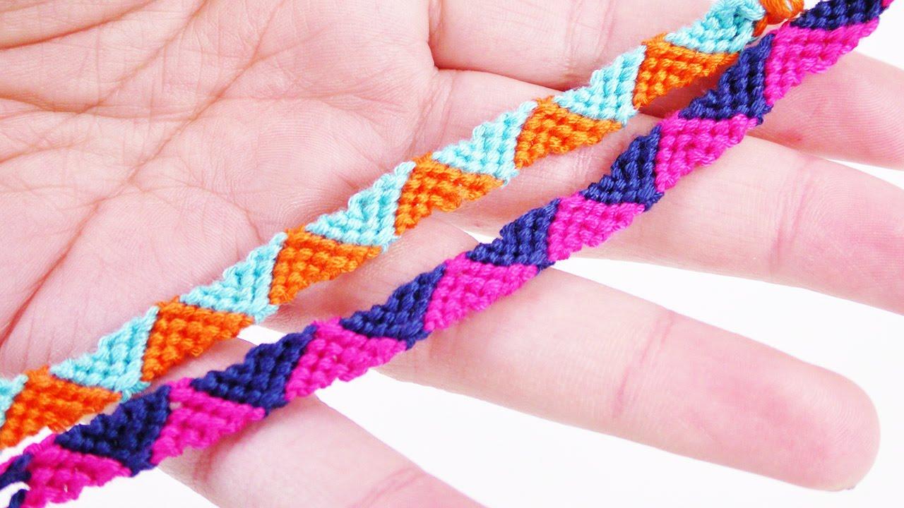 diy armband knpfen tolles freundschaftsarmband mit dreiecken einfach schnell trend youtube - Armbander Knupfen Muster