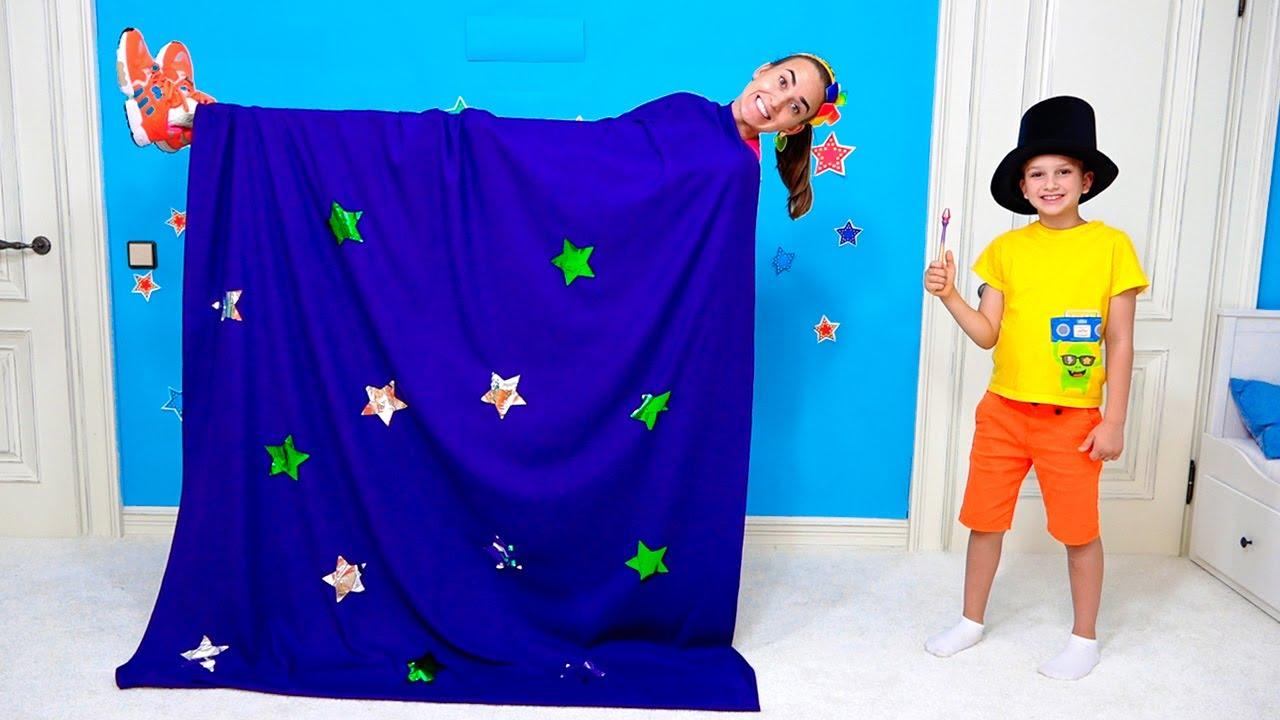 Vlad và Niki thể hiện các trò ảo thuật và tạo ra đồ chơi mới