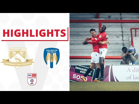 Morecambe Colchester Goals And Highlights