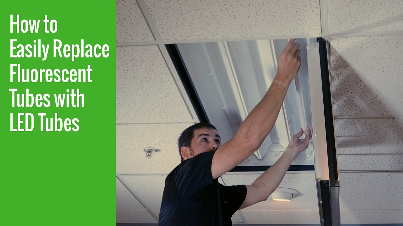 How To Easily Replace Fluorescent Tubes With Led Youtube Tube Light Wiring Diagram