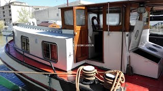 PENICHE LUXEMOTOR 36M a vendre/for sale interieur/inside by Languedoc Yachts