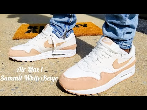 Air Max 1 Summit White/Beige Unboxing & On Feet