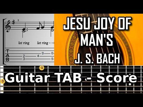 Jesu Joy Of Mans Desiring (J.S Bach 1685-1750) Classical guitar tablature