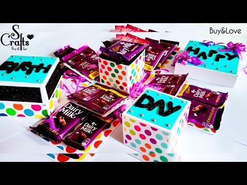 Chocolate Explosion Box 💜 | Handmade | Birthday Gift | Anniversary Gift | For her | S Crafts