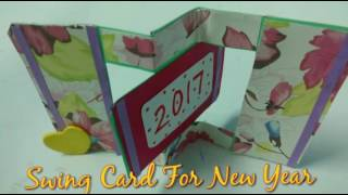 Swing Card Tutorial For New Year 2017 | How To | CraftLas