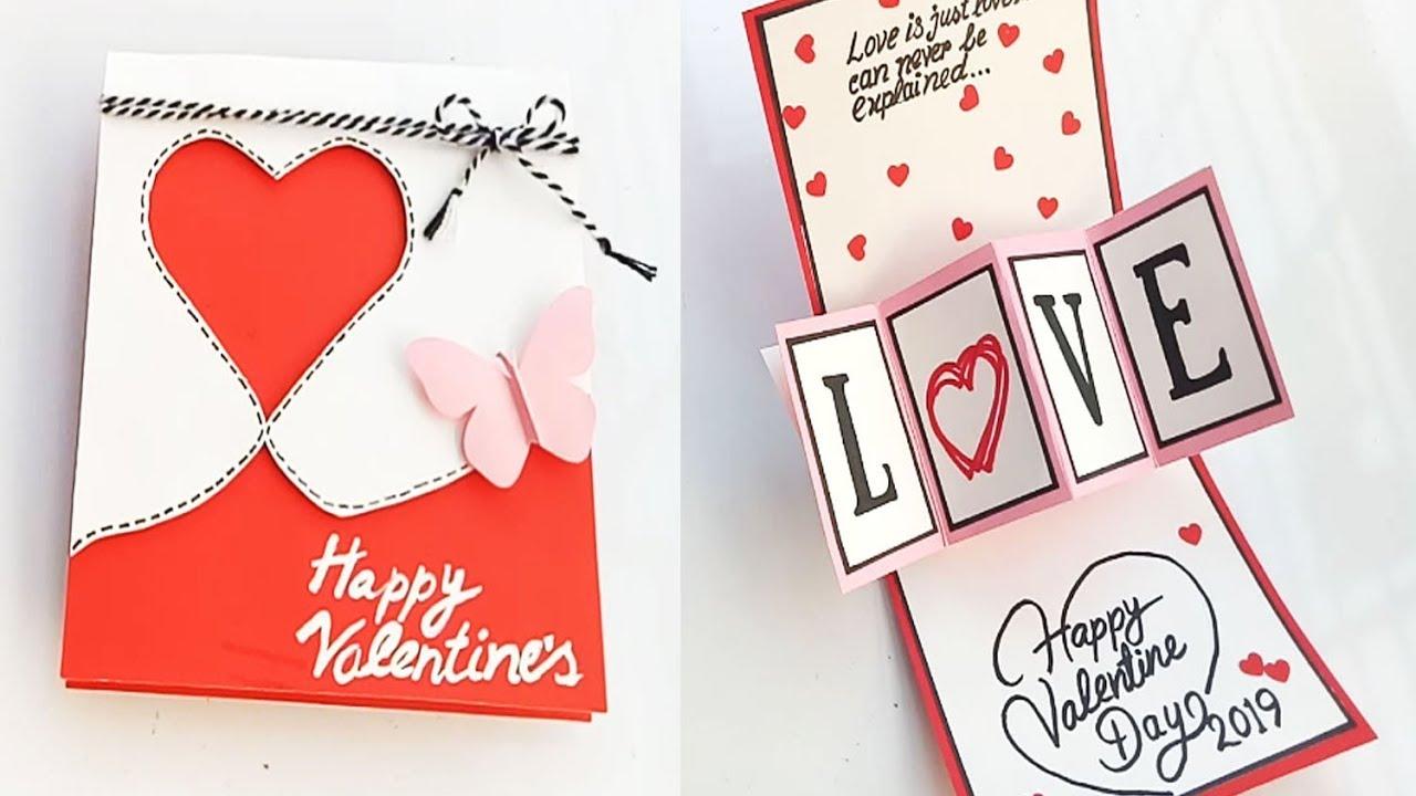 beautiful handmade valentine's day card idea  diy