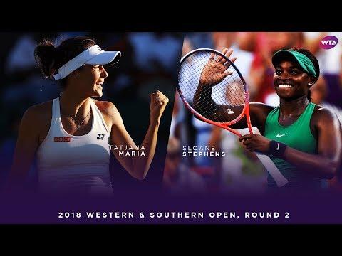 Sloane Stephens vs. Tatjana Maria | 2018 Western & Southern Open Round Two | WTA Highlights