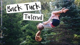 How to do a Standing Back Tuck