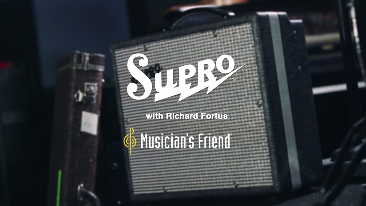 Supro 1600 Supreme 25w 1x10 Guitar Combo Amplifier With S N Roses Guitarist Richard Fortus