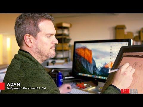Adam, Hollywood storyboard artist