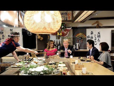 شاهد: ترامب وآبي يأكلان السوشي ويشاهدان السومو بعد لعب الغولف…  - نشر قبل 5 ساعة