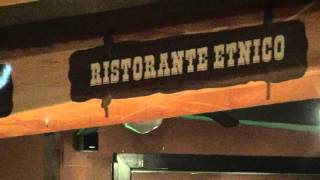 Sant Alessio Village with Racist Restaurant at evening Sicily Sicilia Sizilien 11.10.2015