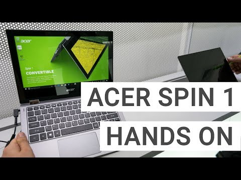 Acer Spin 1 Convertible: Hands On & Quick Review