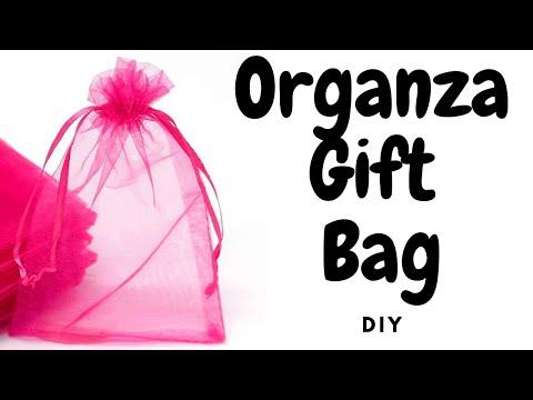 EASY DIY: Organza Gift/favor bags 4 Weddings/Bday/BabyShower/Valentines etc.#14