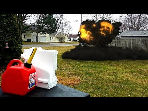 Mixing Gasoline and Styrofoam, Science Experiment