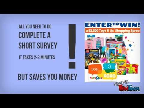 Win A 3 500 Shopping Spree At Toys R Us Us Only Youtube