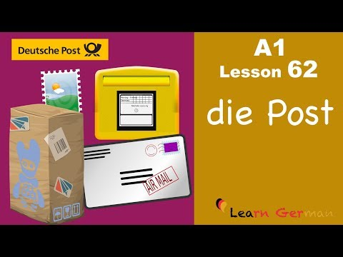 A1 - Lesson 62 | Die Post | The post office | Learn German for beginners