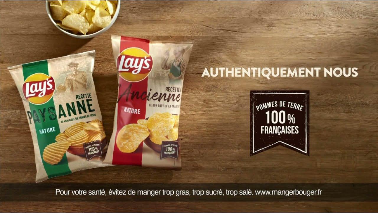 """Musique de la pub Chips Lay's – pommes de terre 100% françaises """"authentiquement nous""""  Mai 2021"""