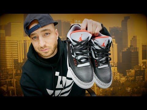 Jordan 3 Black Cement Review & On Feet! + Sneaker Shopping in Philly!