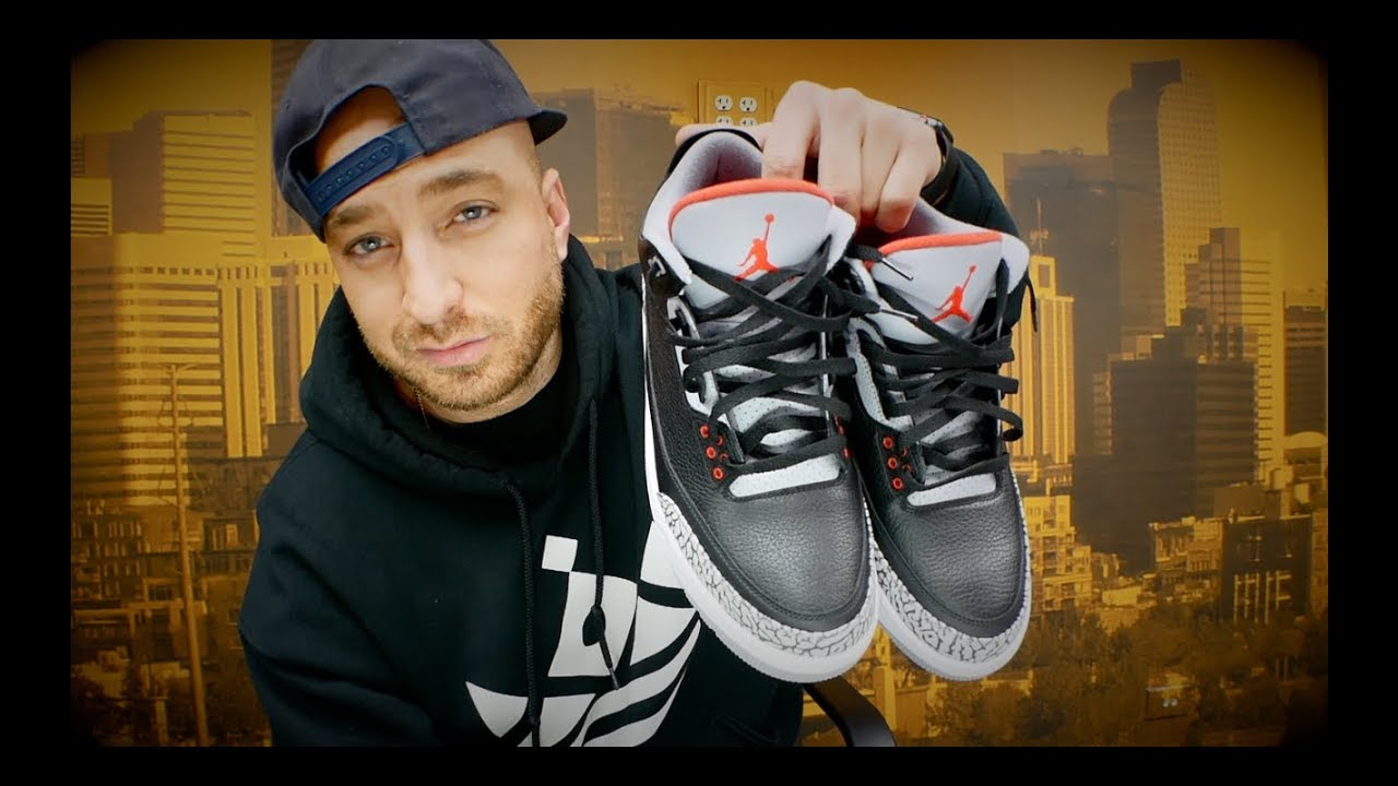 promo code 5a98f 5c1fa Jordan 3 Black Cement Review & On Feet! + Sneaker Shopping in Philly!