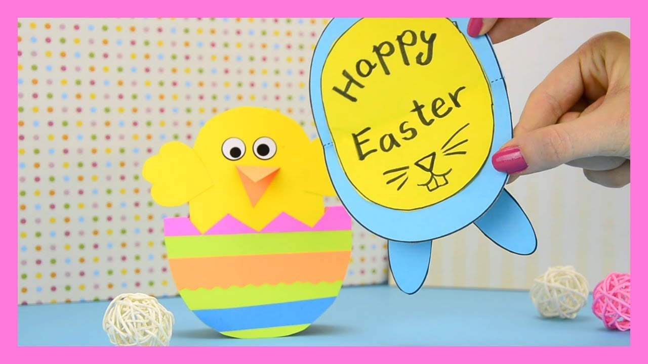 How To Make Rocking Chick And Bunny Easter Card Colorize Youtube