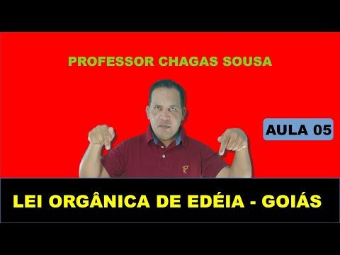 LEI ORGÂNICA DE EDEIA-GOIÁS # AULA 05/Prof. Chagas Sousa