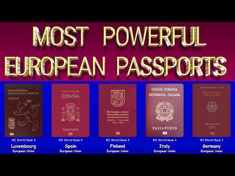 The Most Powerful European Passports 2020