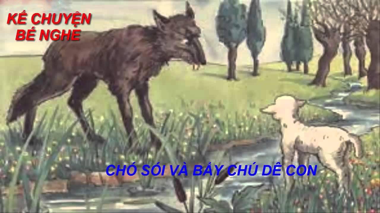 Truyện cổ tích: Chó sói và bảy chú dê con {Truyện ngụ ngôn - Chó sói và bầy  dê} - YouTube