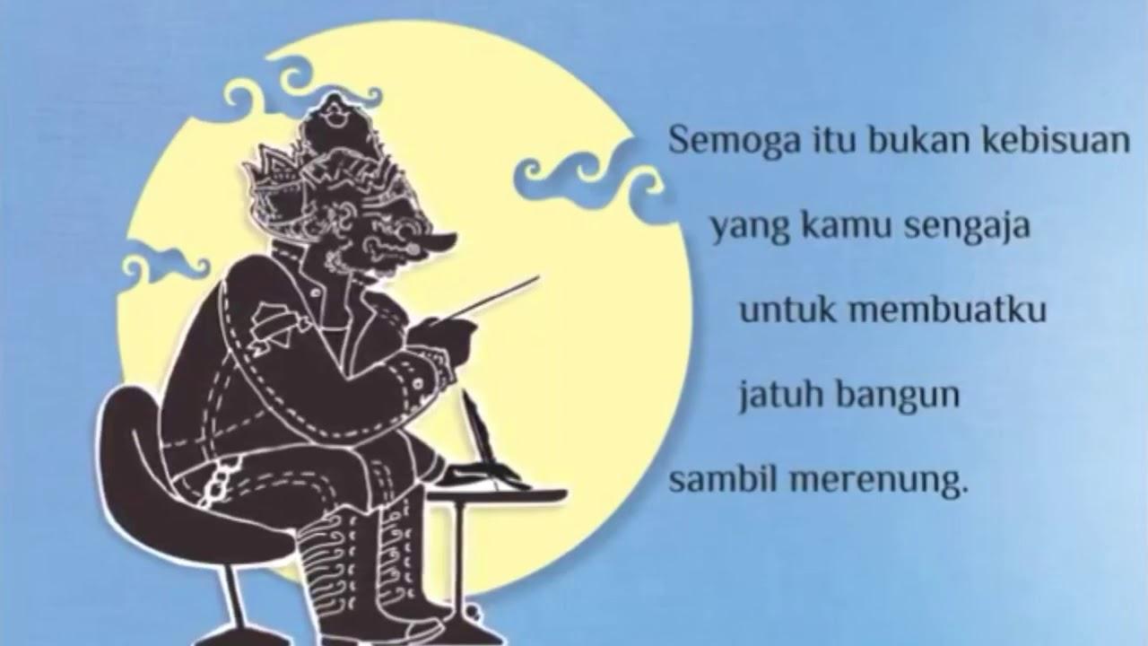 Sujiwo Tejo Ada Yang Tiada Puisi Cinta Rahwana Untuk Sinta Youtube