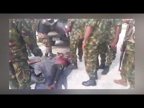 Nigerian Troops Deliver Dead Body of Notorious Kidnapper, Don Waney To Rivers State Police