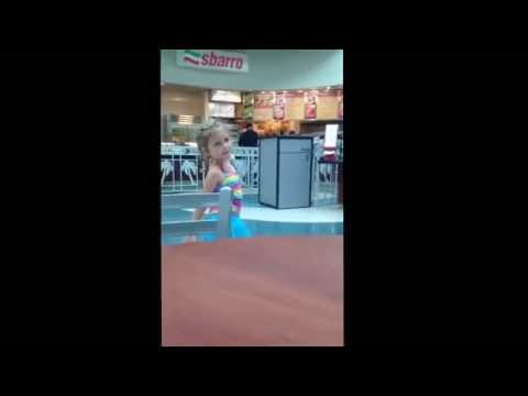 Little girl sings Sofia the First in Orlando Airport...