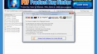 How it works: PKF Product Key Finder