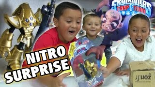NITRO KRYPT KING Surprise + Unboxing! w/ Kaos Gameplay Preview (Skylanders Trap Team)