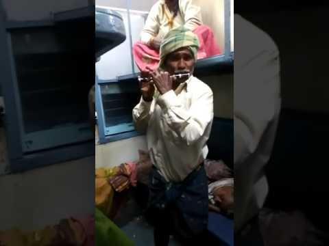 Tribal people in train!!Flute Music of kushi movie