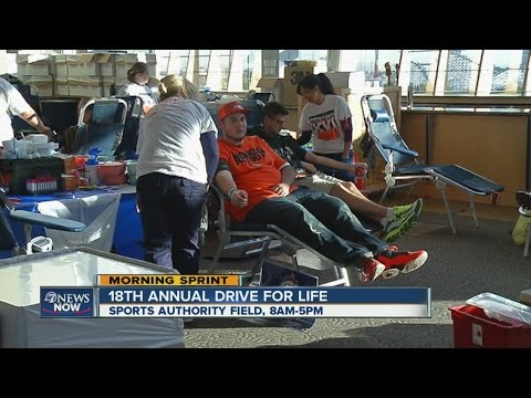 Bonfils Blood Center Drive for Life is Tuesday at Sports Authority Field at Mile High