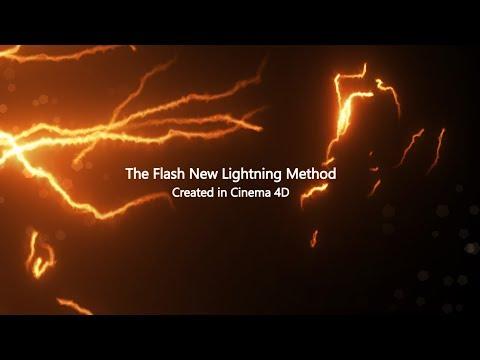 The Flash New Lightning Method V4 Created in C4D