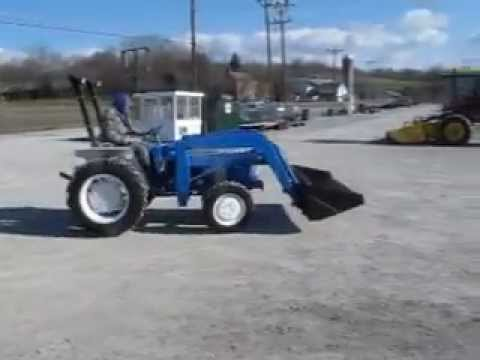 Ford 1710 4x4 Tractor With Loader Youtube