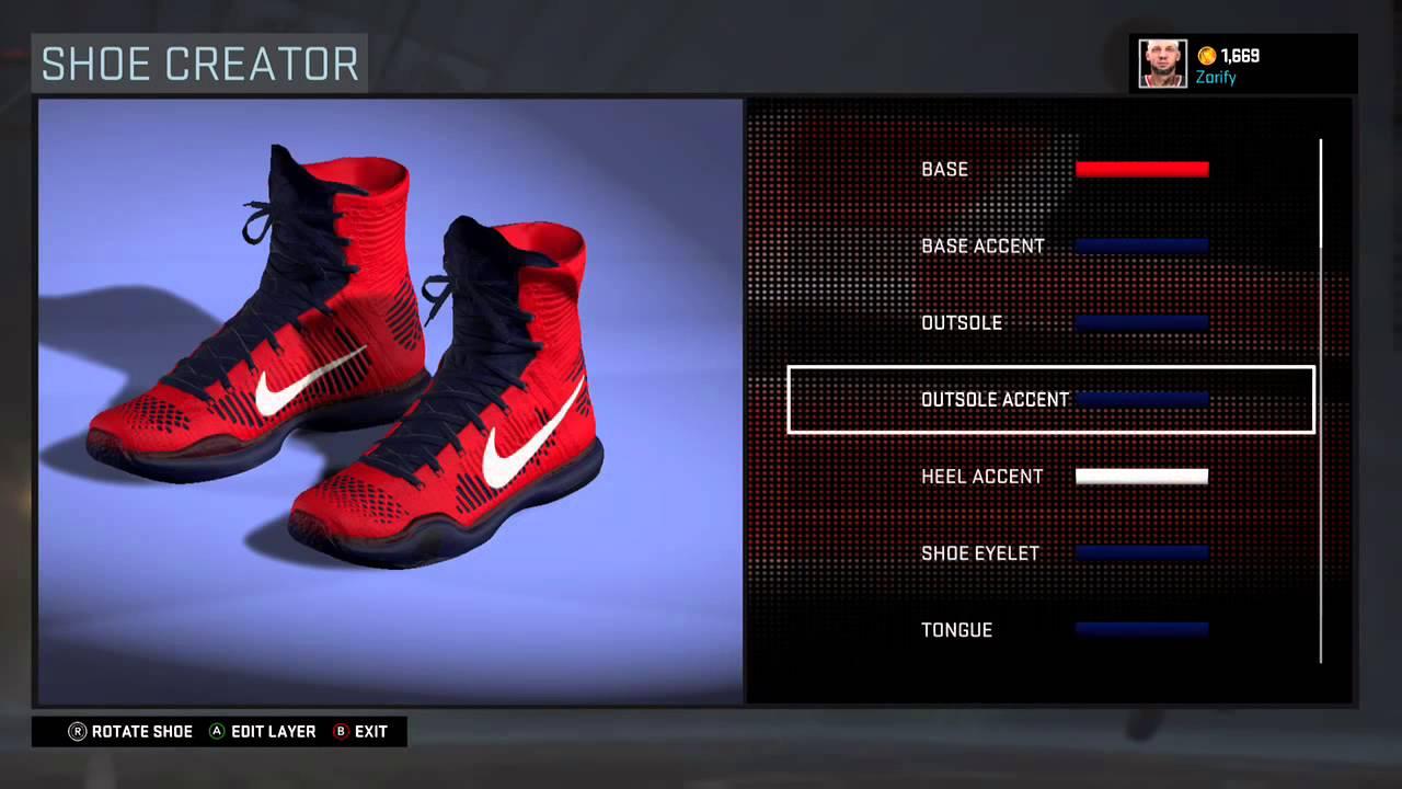 new product 7113c f98ff NBA 2K16 Shoe Creator - Nike Kobe 10 Elite