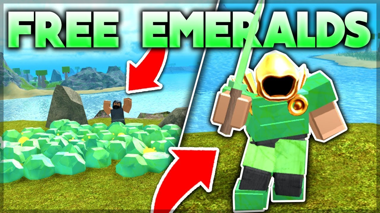 Giving Away Emerald Armor To Noobs Roblox Booga Booga Youtube